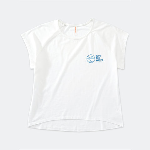 Save The Waves Women's Raglan Crew - Classic Logo