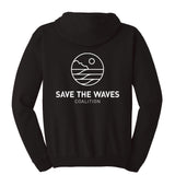 Save The Waves' Black Logo Hoodie