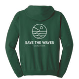 Save The Waves' Green Logo Hoodie