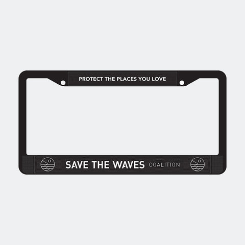 Save The Waves License Plate Frame