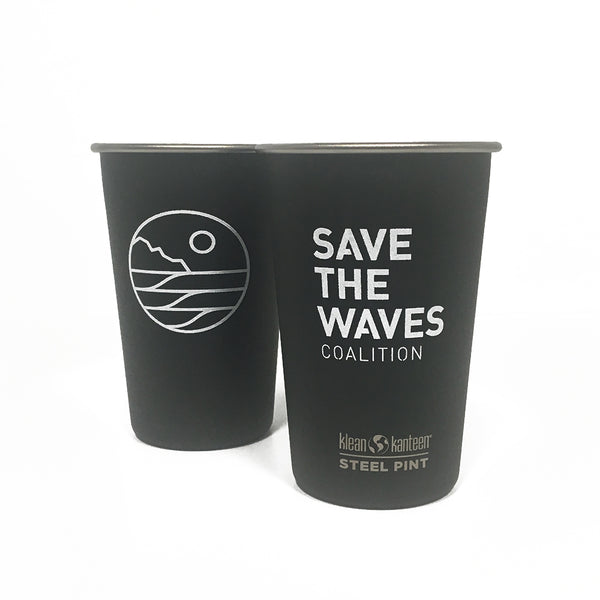 Save The Waves Black Pint Cup