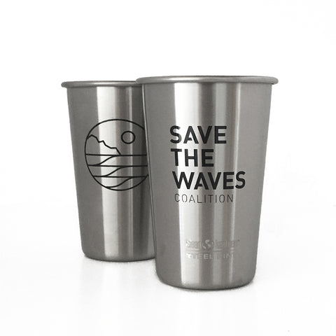 Save The Waves Reusable Pint Cup