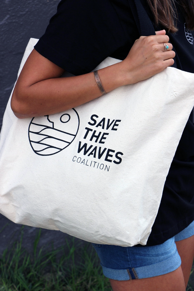 Save The Waves Canvas Tote Bag