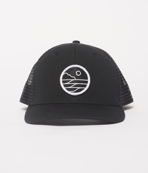 Save The Waves Trucker Hat_Black_Front
