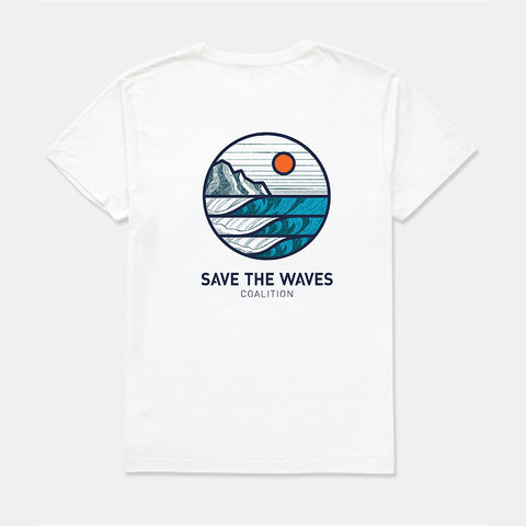 Save The Waves White Unisex Sunrise Tee