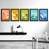 Complete World Surfing Reserve Print Series by Erik Abel
