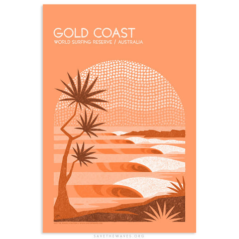 Gold Coast World Surfing Reserve Print by Erik Abel