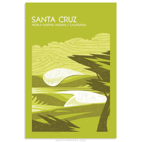 Santa Cruz World Surfing Reserve Print by Erik Abel