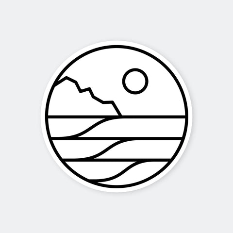 Save The Waves White Circle Logo Sticker