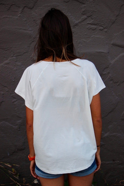 Women_Save The Waves Raglan Classic Logo_White_Back