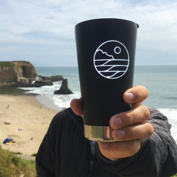 Save The Waves Black Klean Kanteen Cup