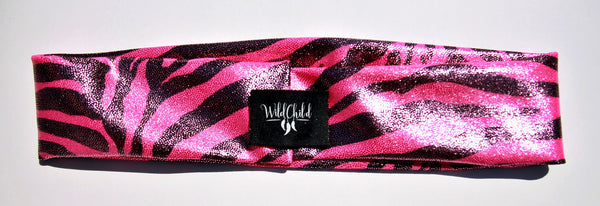 WILD ZEBRA PINK High Performance Non-Slip Headband - Wild Child Headbands