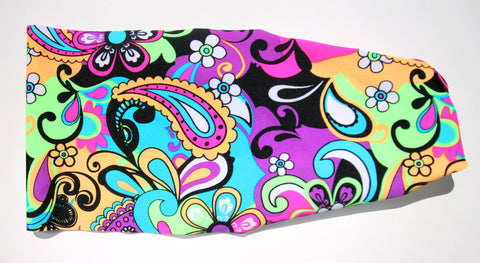 ROCK N ROLL PAISLEY High Performance Non-Slip Headband - Wild Child Headbands