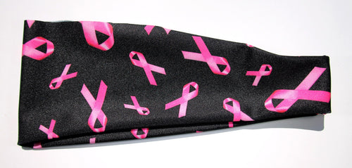 SAVE THE TATAS BREAST CANCER RIBBONS High Performance Non-Slip Headband - Wild Child Headbands