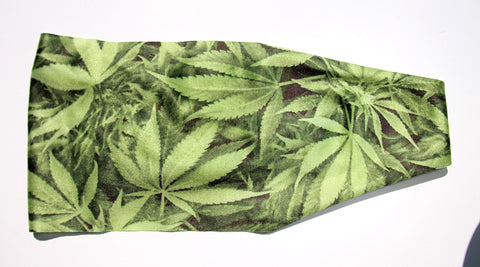 RELAX, CANNIBAS LEAVES High Performance Non-Slip Headband - Wild Child Headbands