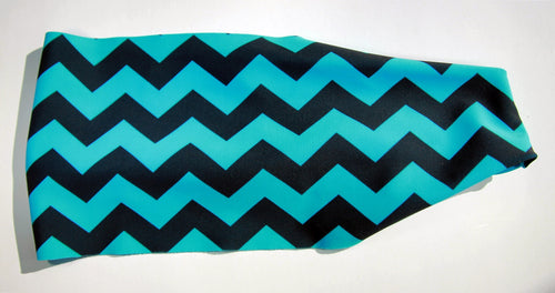 BLUE BLACK CHEVRON ZIG ZAG High Performance Non-Slip Headband - Wild Child Headbands