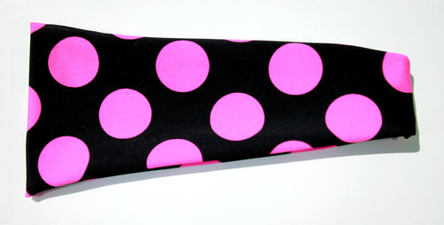 PINK POLKA DOT High Performance Non-Slip Headband - Wild Child Headbands