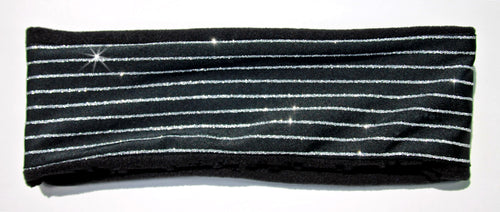 DISCO GLITTER STRIPES On Fleece High Performance Headband - Wild Child Headbands