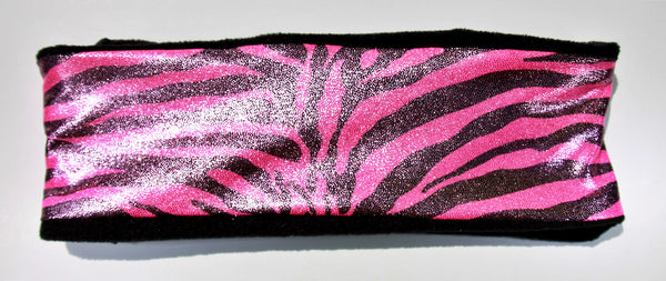 WILD ZEBRA PINK Fleece High Performance Headband - Wild Child Headbands