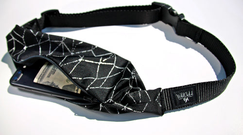 REFLECTIVE running belt (fanny pack) for night time safety! - Wild Child Headbands