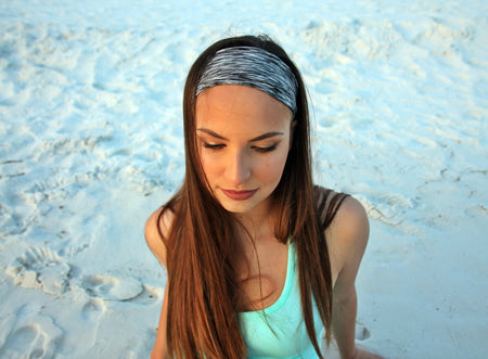 HEATHERED STRIPE LIGHT High Performance Non-Slip Headband