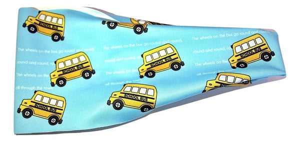WHEELS ON THE BUS Hair Tamer Headband - Wild Child Headbands