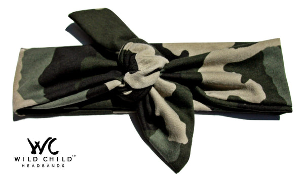 Camo Designer Tie Knot Headband - Wild Child Headbands
