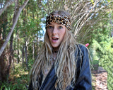 CRUSHED VELVET TWIST-LEOPARD Headband - Wild Child Headbands