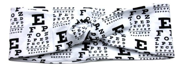 EYE CHART Designer Jersey Soft Twist Headband - Wild Child Headbands