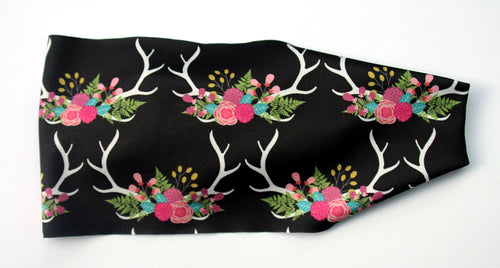 FLOWERS AND ANTLERS High Performance Non-Slip Headband - Wild Child Headbands