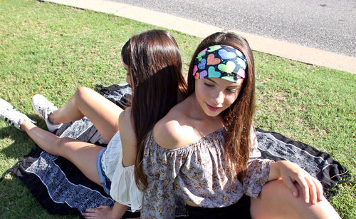 COLORFUL HEARTS High Performance Non-Slip Headband - Wild Child Headbands