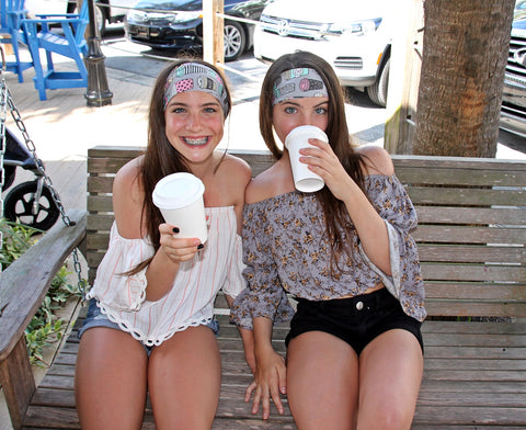 COFFEE HOUSE lattes and coffees High Performance Non-Slip Headband - Wild Child Headbands