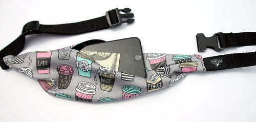 COFFEE HOUSE Running Belt (Fanny Pack) - Wild Child Headbands