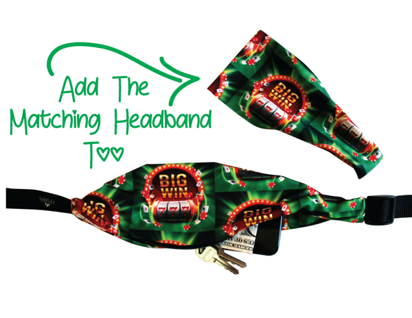 CASINO NIGHT LUCKY WINNER 777 Running Belt (Fanny Pack) - Wild Child Headbands