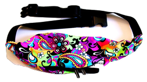 NEON ROCK N' ROLL PAISLEY Running Belt (Fanny Pack) - Wild Child Headbands
