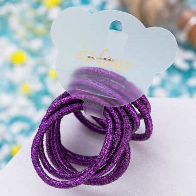 GIRLS BRIGHT COLORED SPARKLE HAIR TIES - Wild Child Headbands