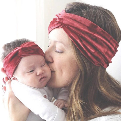MOM AND ME SOFT VELVET TWIST HEADBANDS!