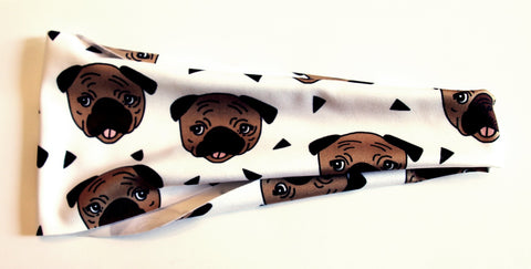 PUGS NOT DRUGS High Performance Non-Slip Headband - Wild Child Headbands