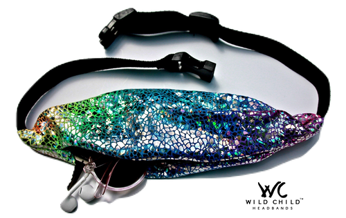 Shattered Glass Rainbow Running Belt (Fanny Pack) - Wild Child Headbands