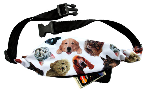 RAINING CATS AND DOGS Running Belt (Fanny Pack) - Wild Child Headbands