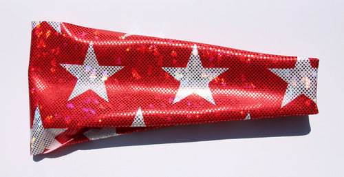 AMERICAN STARS ON RED GLITTER High Performance Non-Slip Headband - Wild Child Headbands