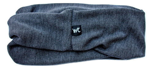 Extra Wide Yoga Headband Jersey Soft Cotton, Color: STONE GREY