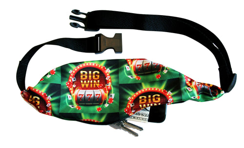 CASINO NIGHT LUCKY WINNER 777 Running Belt (Fanny Pack)