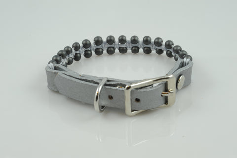 Gray Leather with Hematite