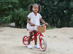 Baghera Vintage Balance Bike (Pink, Blue or Red)