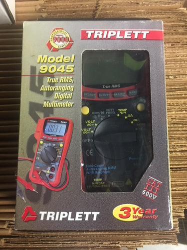 True-RMS AC/DC Digital Multimeter with Temperature, Capacitance, and Frequency, CAT III 600V