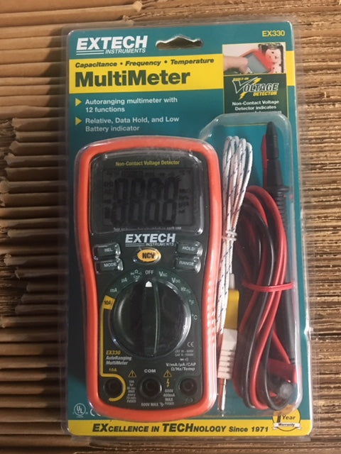 Autoranging Digital Multimeter 600V 10A w/Non-Contact Voltage Detector & Temp Function