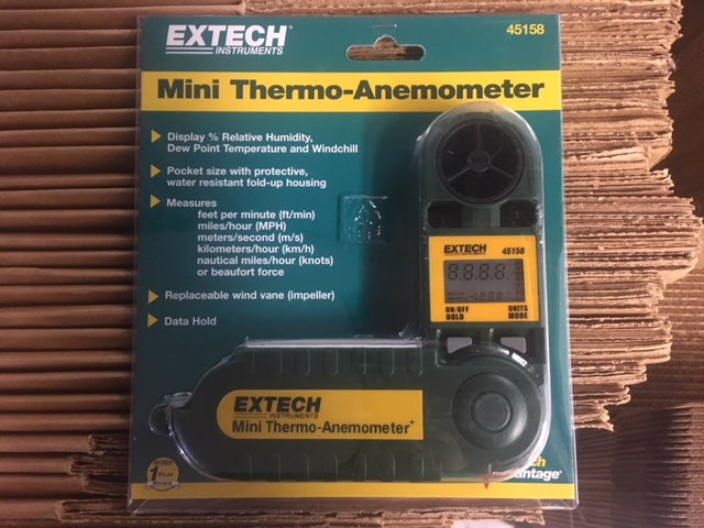 Mini Thermo-Anemometer with Humidity Waterproof