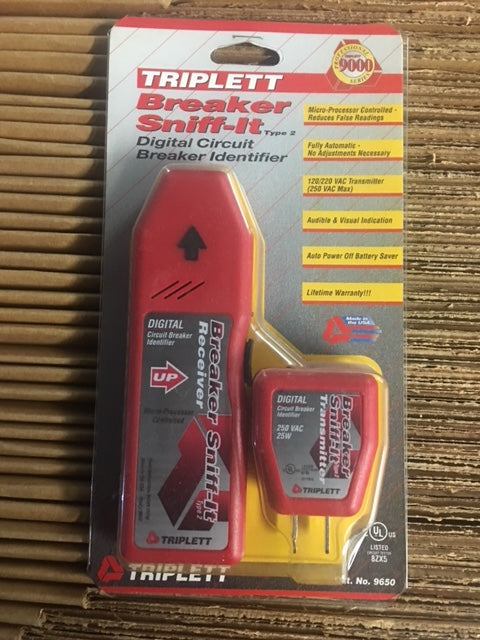 Breaker Sniff-It Digital Circuit Breaker Locator with 120/220/240 VAC Transmitter