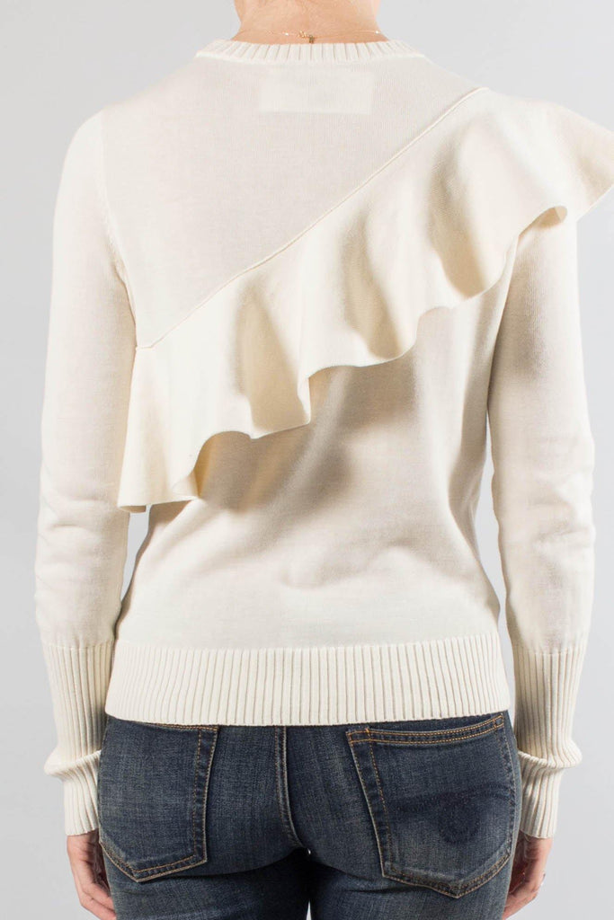 Apiece Apart Cotton Ruffle Front STERRE Sweater